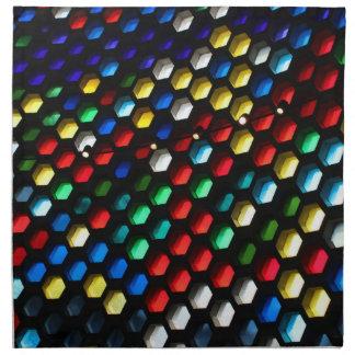 Geometrisk målat glasshonungskaka tygservett
