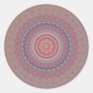 Geometrisk mandala för Hippie Runt Klistermärke