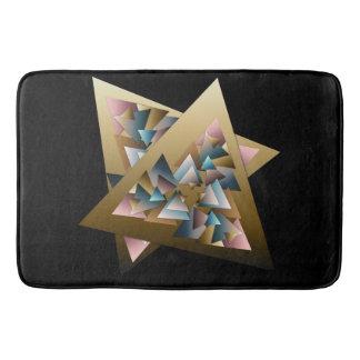 Geometrisk metallisk triangelkonst badrumsmatta