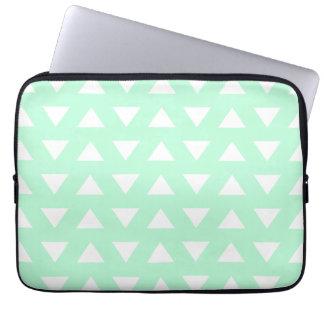 Geometrisk modell för för Mintgrönt och vit Laptopskydd Fodral