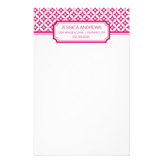 Geometrisk mönstrad personlig brevpapper