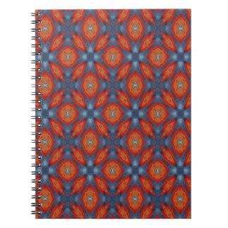 Geometrisk orange anteckningsbok med spiral
