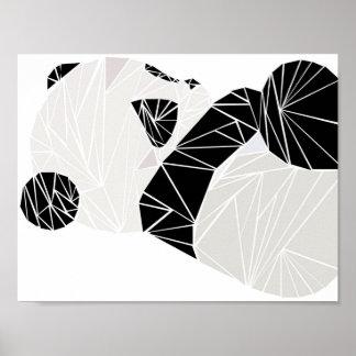Geometrisk panda poster