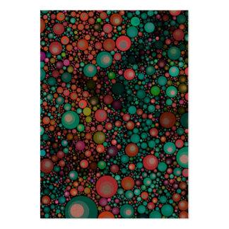 Geometrisk Retro | krickagrönt för mönster | Set Av Breda Visitkort