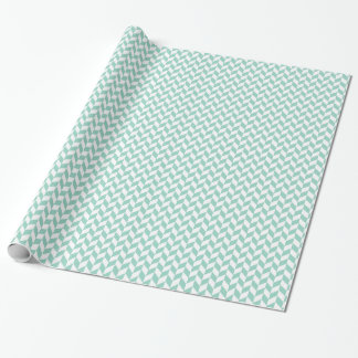Geometrisk sparreMint och benvita Giftwrap Presentpapper