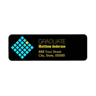 Geometrisk studentenreturadressetikett returadress etikett