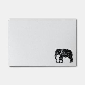Geometrisk svart elefant post-it lappar