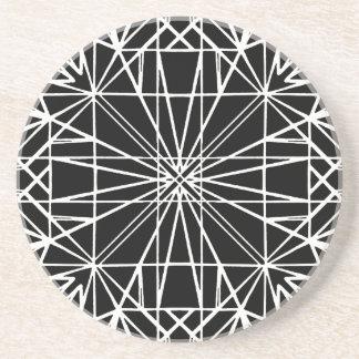 Geometrisk symmetri för svart & för vit underlägg
