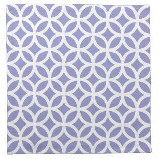 Geometrisk trasaservett i den violetta tulpan tygservett