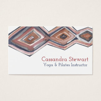 Geometrisk vattenfärgvisitkortdesign visitkort