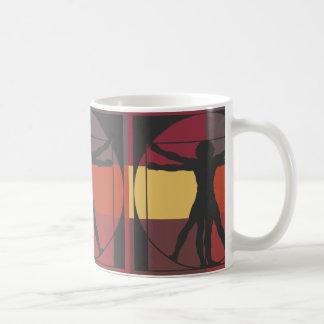 Geometrisk Vitruvian man Kaffemugg