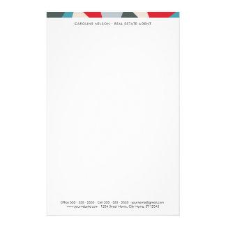 Geometrisk yrkesmässig fastighetbrevpapper brevpapper