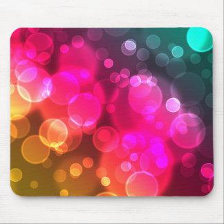Geometriska Bokeh bubblar Mousepad Musmatta