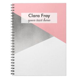 geometriska eleganta moderna rosor för anteckningsbok