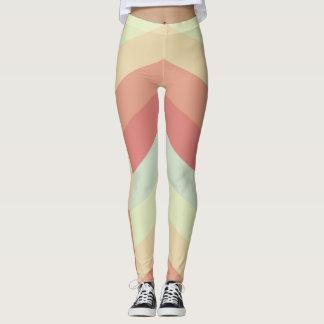Geometriska färger för pastell för leggings