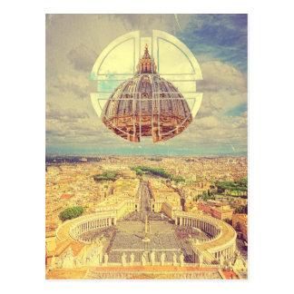 Geometriska kvadrerar Vatican St Peter Vykort
