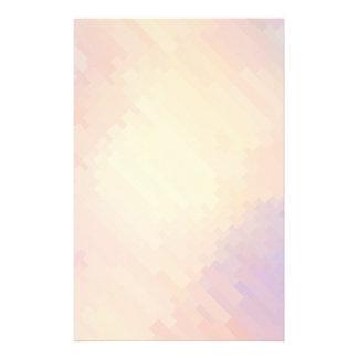 Geometriska | lila- och orangeremsor för mönster brevpapper