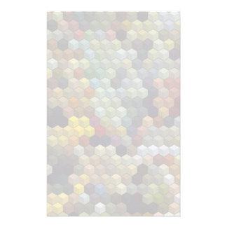 Geometriska mångfärgade kuber för mönster | och brevpapper