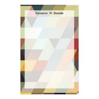 Geometriska multifärgadtrianglar för mönster | brevpapper