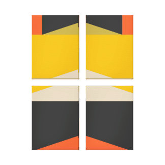 Geometriska Shapar för mitt- konst för århundrade Canvastryck