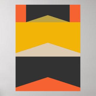Geometriska Shapar för mitt- konst för århundrade Poster