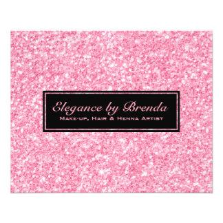 Geometriska Shapar för rosaglittersvart Flygblad