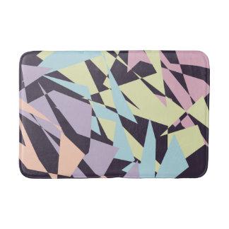 geometriska trianglar för elegantt pastellfärgat badrumsmatta