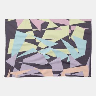geometriska trianglar för elegantt pastellfärgat kökshandduk