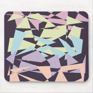 geometriska trianglar för elegantt pastellfärgat musmatta