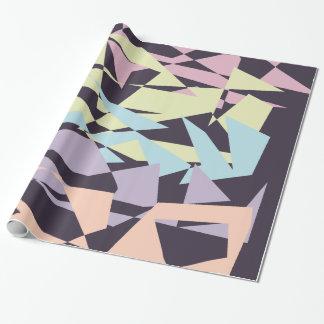 geometriska trianglar för elegantt pastellfärgat presentpapper
