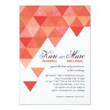 Geometriska trianglar som gifta sig den | individuella inbjudningskort