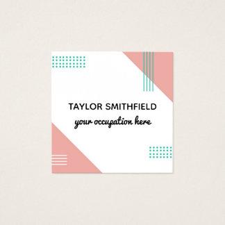 geometriska visitkortdesigner för modern lutning fyrkantigt visitkort