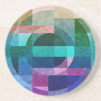 Geometriskt abstrakt färgrikt cirklar texturerat underlägg sandsten
