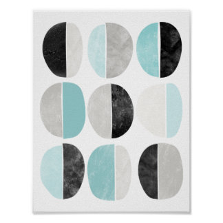 Geometriskt affischtryck för skandinavisk stil poster