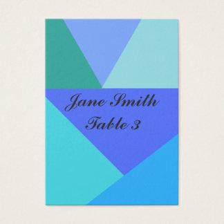 Geometriskt bordkort visitkort