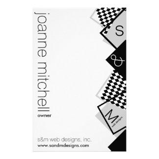 geometriskt boxas brevpapper