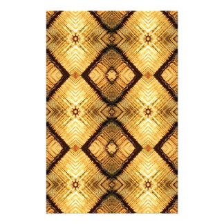 Geometriskt djupt för Fractal - gult brunt mönster Brevpapper