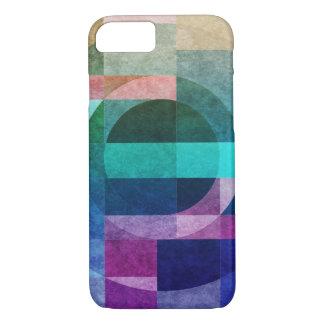 Geometriskt färgrikt cirklar det texturerade
