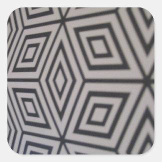 geometriskt formar fyrkantigt klistermärke