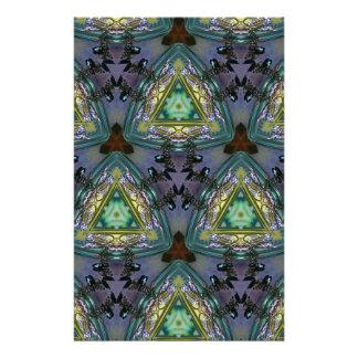 Geometriskt format Kaleidoscopemönster Brevpapper