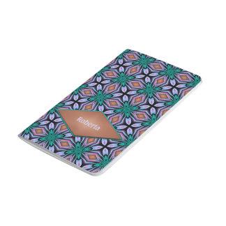 Geometriskt Fractalmönster för brun violett Anteckningsbok