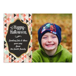 Geometriskt Halloween fotokort 12,7 X 17,8 Cm Inbjudningskort