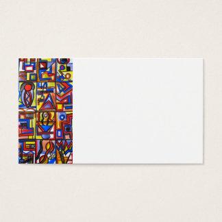 Geometriskt Handpainted för stads- konst för gata Visitkort
