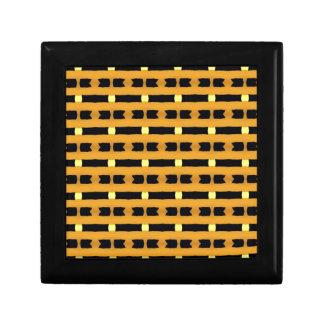 Geometriskt i gult och svart smyckeskrin