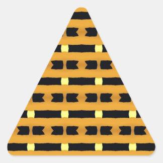 Geometriskt i gult och svart triangelformat klistermärke