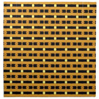 Geometriskt i gult och svart tygservett