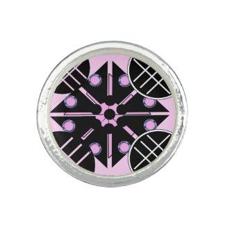 Geometriskt i rosaring foto ringar