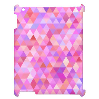 Geometriskt iPadfodral för nätt rosa triangel iPad Mobil Skal