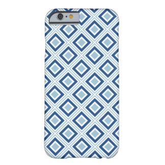 geometriskt kvadrerar blått för mönstercoolafärger barely there iPhone 6 skal