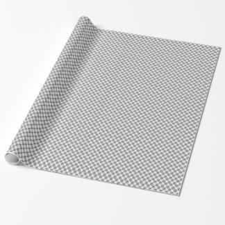 Geometriskt mönster 3D för Seamless grå färg Presentpapper